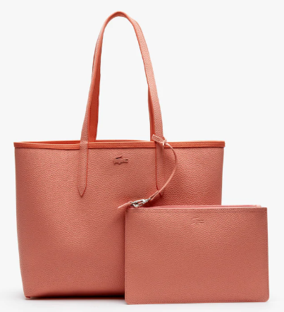 369aa39f88 SAC CABAS ANNA RÉVERSIBLE BICOLORE CORAL LOBSTER BISQUE NF2142AAC05  www.solene-maroquinerie.fr