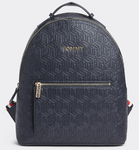 SAC A DOS GAUFFRÉ TOMMY ICON TOMMY HILFIGER T.NAVY EMBOSSED MONOGRAM AW0AW07840 0GY www.solene-maroq