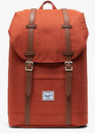 SAC A DOS HERSCHEL RETREAT PICANTE CROSSHATCH ORANGE CHINÉ 10066 03002 www.solene-maroquinerie.fr