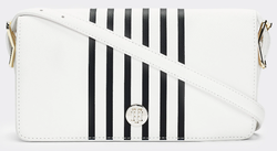 SAC BANDOULIERE RAYÉ TOMMY HILFIGER HONEY BRIGHT WHITE AW0AW07940 YAF www.solene-maroquinerie.fr