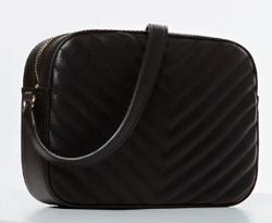SAC A BANDOULIERE GUESS KAMRYN COUTURES NOIR HWBQ6691120 www.solene-maroquinerie.fr