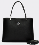 PETIT SAC CABAS NOIR TOMMY HILFIGER TH CORE MED SATCHEL AW0AW07969 BDS www.solene-maroquinerie.fr