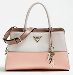 SAC A MAIN GUESS MADDY EFFET GRAINÉ BLANC MULTI HWVG7291060 WHITE MULTI www.solene-maroquinerie.fr