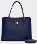 PETIT SAC A MAIN TOMMY HILFIGER TH CORE MED SATCHEL SKY CAPTAIN AW0AW07969 CJM www.solene-maroquiner