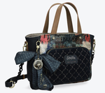 ANEKKE PRETTY VELVET TOTE BAG COUTURE 29881-65COC www.solene-maroquinerie.fr