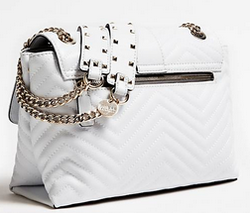 SAC A BANDOULIERE GUESS VIOLET MATELASSE BLANC HWVG7294200 WHITE www.solene-maroquinerie.fr
