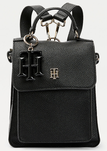 SAC À DOS À BRELOQUE MONOGRAMME NOIR TOMMY HILFIGER TH SOFT BACKPACK AW0AW09837 BDS www.solene-maroq