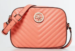 SAC A BANDOULIERE GUESS KAMRYN COUTURES ROSE CORAL HWBQ6691120 www.solene-maroquinerie.fr