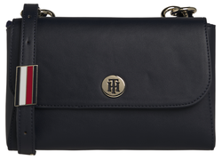 SAC EN BANDOULIERE TH SMOOTH CROSSOVER TOMMY HILFIGER MARINE AW0AW07329 OGD www.solene-maroquinerie.
