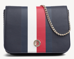 54654ba4e9 SAC A BANDOULIERE MONOGRAMME MARINE TOMMY HILFIGER AW0AW06865 901 www.solene -maroquinerie.fr