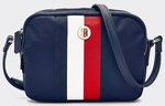 SAC BANDOULIÈRE EMBLÉMATIQUE EN NYLON TOMMY HILFIGER POPPY CROSSOVER CORP AW0AW07959 0GY www.solene-