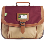 CARTABLE TANN'S ICONIC GRENAT SABLE 35CM 35125 www.solene-maroquinerie.fr
