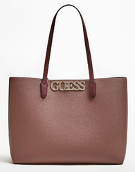SAC CABAS GUESS UPTOWN CHIC POCHETTE MOCHA MULTI HWVG7301230 www.solene-maroquinerie.fr