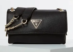 SAC A BANDOULIERE GUESS NARITA NOIR HWVG7665180 www.solene-maroquinerie.fr