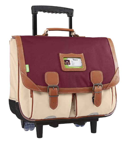 895676b0df CARTABLE A ROULETTES TANN'S ICONIC GRENAT SABLE 41CM 43125 www.solene -maroquinerie.fr