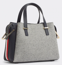 SAC A MAIN SACOCHE MEDIUM TH CORE TOMMY HILFIGER AW0AW07415 GREY MELTON www.solene-maroquinerie.fr