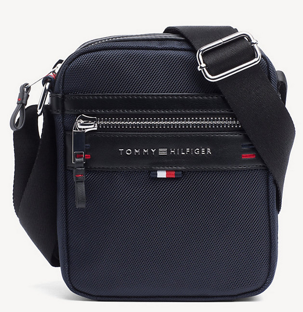 b54d16b572 MINI SACOCHE REPORTER TOMMY NAVY ELEVATED TOMMY HILFIGER AM0AM03186 413 www. solene-maroquinerie.