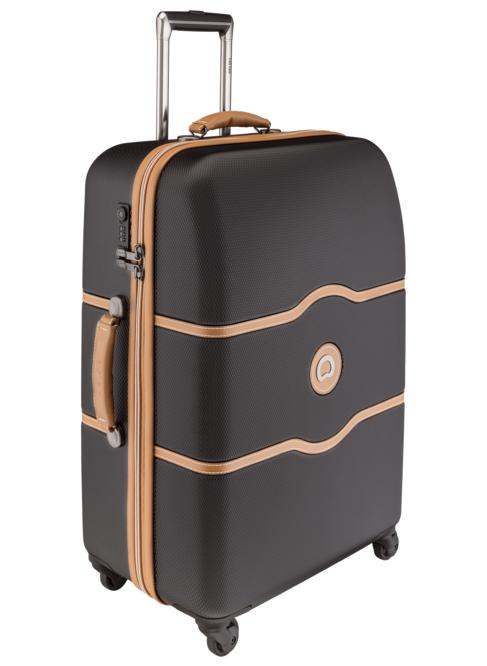 valise delsey chatelet 67cm 4 roues noir solene maroquinerie. Black Bedroom Furniture Sets. Home Design Ideas