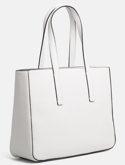 Cabas Sac Moyen Blanc Solene Klein Maroquinerie Calvin Edge drr5Fwfq